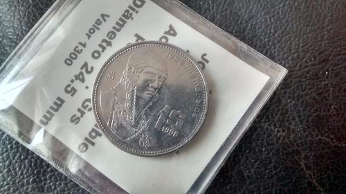 moneda mexico - 1 peso 1986 j morelos (402za