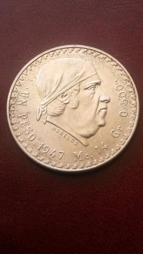 moneda mexico 1 peso plata 1947 excelente condicion 14 grams