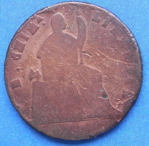 moneda mexico 1/4 real 1866 cobre excelente