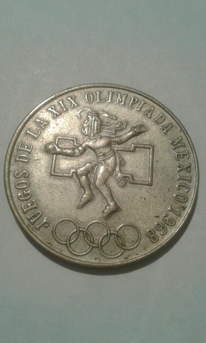 Moneda Mexico 25 Pesos Xix Juegos Olimpicos 1968 390 00 En