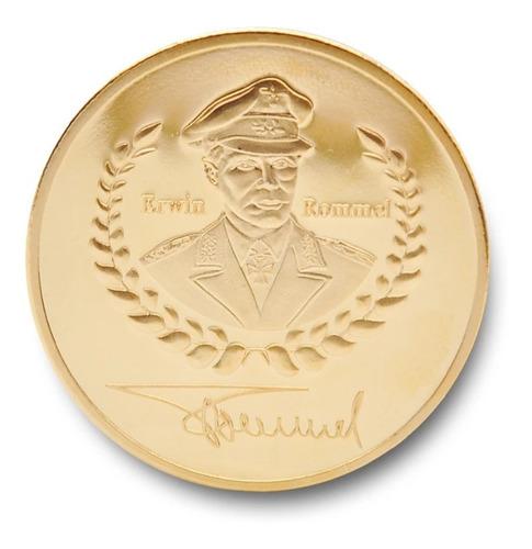 moneda militar, erwin rommel 1891-1944