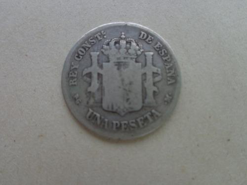 moneda muy antigua de plata española año 1891