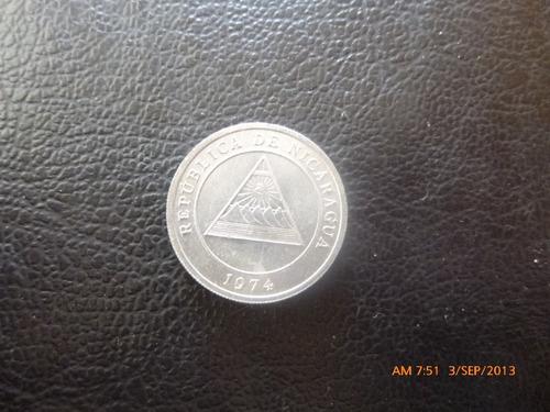 moneda nicaragua 5 centavos de cordoba 1974 (267z