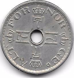 moneda noruega 50 ore (1948)  cobre-niquel
