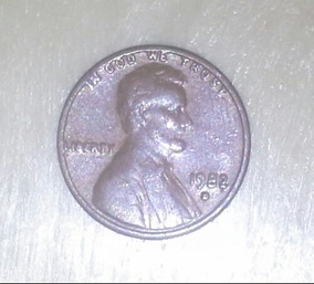 Moneda One Cent  Penny Usa 1982 D Small Day Peso 3 1