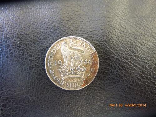 moneda one shilling  1944 plata 0.500  inglish crest (1078z