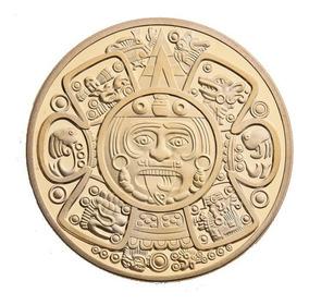 Calendario Azteca.Moneda Onza Azteca Oro 24k Calendario Azteca Piedra Del Sol