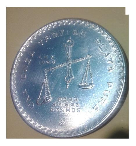 moneda onza troy balanza  1980