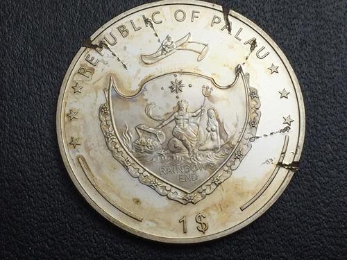 moneda palau 1 dolar 2009 vida salvaje niquel