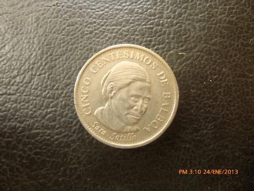 moneda panama sara sotilo 5 centavos 2001 (320z