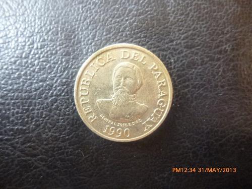 moneda  paraguay 100 guaranies 1990 (304z
