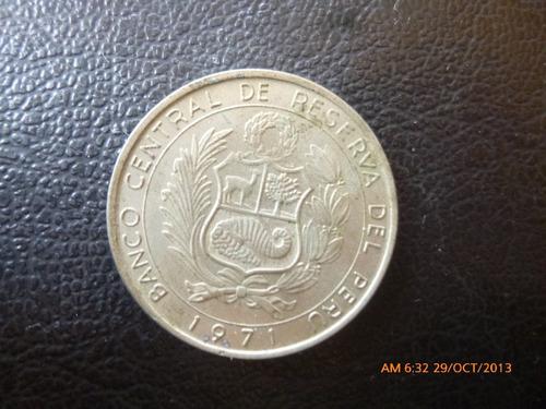 moneda peru 10 soles de oro 1971  conmemorativa (295