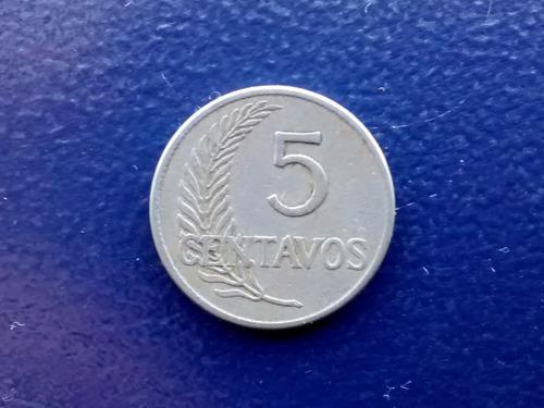 moneda peru 5 centavos  1919(705z