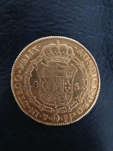 moneda peruana 8 escudos 1822 oro