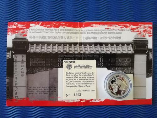 moneda plata , 02 de mayo, melgar , inmigracion china.