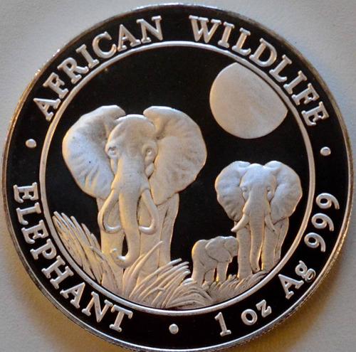 moneda plata 1 onza elefante 2014  !
