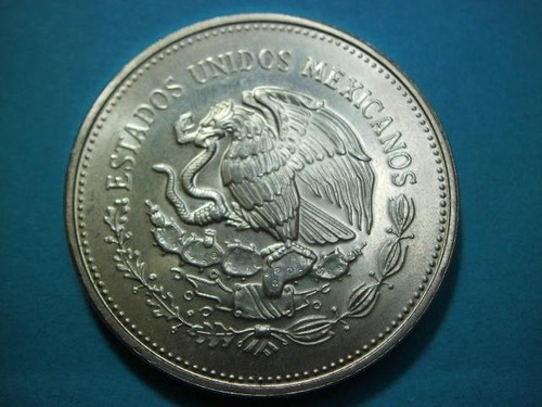 moneda plata 100 pesos mundial fut mexico 86