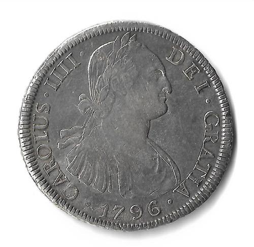 moneda plata 8 reales potosi carlos iv 1796