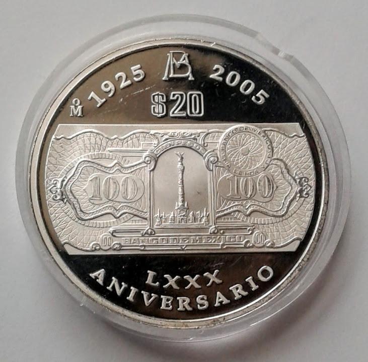 9cc60876234e Moneda Plata 80 Aniv. Banco De Mexico 2 Onzas !! -   3
