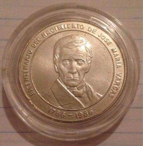 moneda plata bicentenario dr josé maría vargas