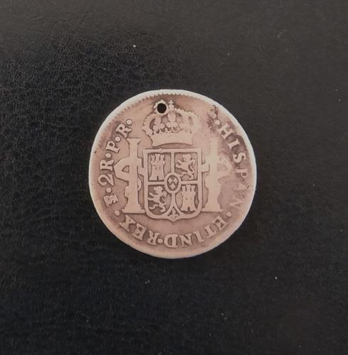 moneda plata carolus iii 1783 2 reales seca potosi