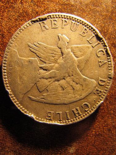 moneda plata chile un 1 peso 1896 gran tamaño