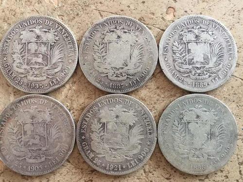 moneda plata fuerte colección 1887,88,89 y varias