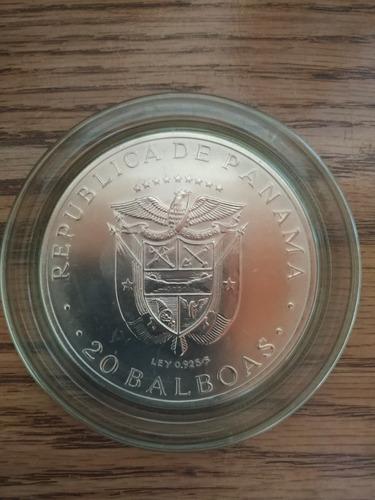moneda plata gran formato panamá 1973
