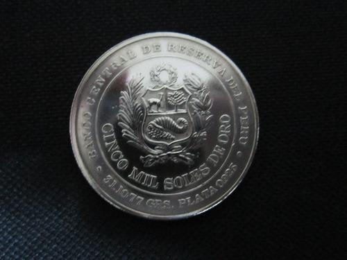 moneda plata huascar peru 1979 conmemorativa 5000 soles oro