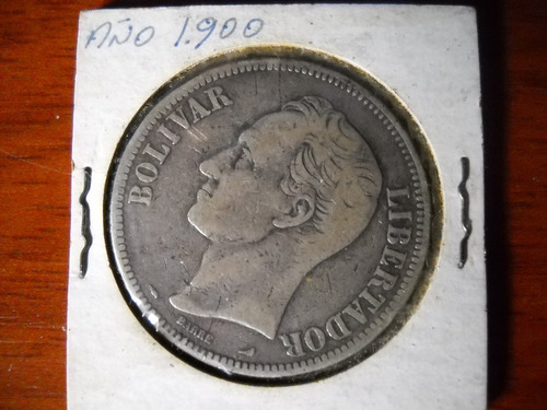 moneda plata ley 900 año 1900