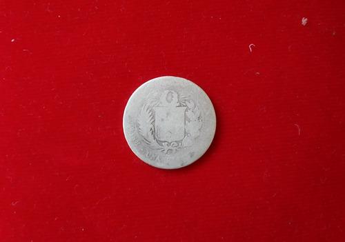 moneda plata moñona - una peseta 1880