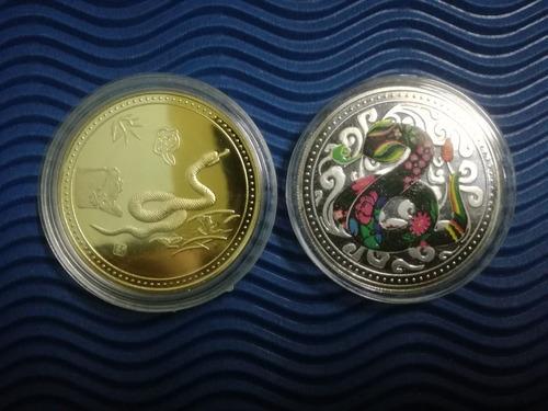 moneda plateadas zodiaco chino