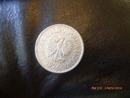 moneda polonia 1 zloty 1974 (338z