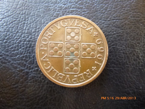 moneda portugal 1 escudo 1969 ((308z