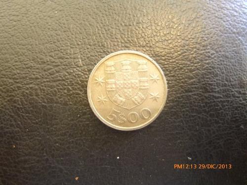 moneda portugal 5 escudos 1982 (299z