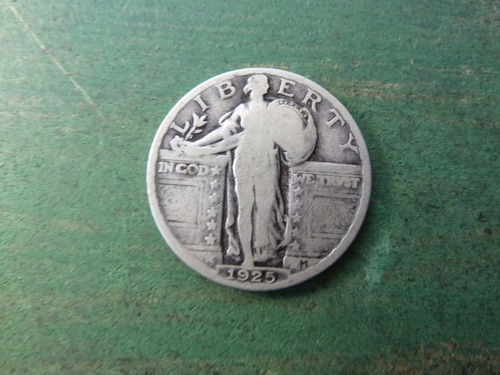 moneda quarter dollar 1925 plata -  vp