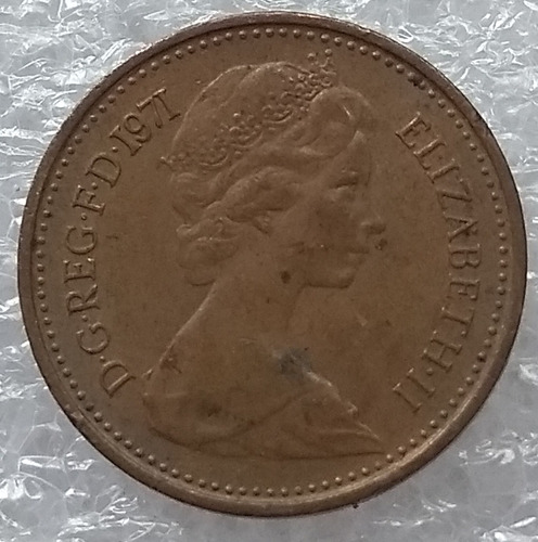 moneda reino unido 1/2 new penny año 1971