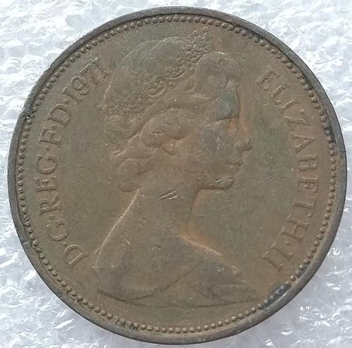moneda reino unido 2 nuevos peniques two new pences 1971