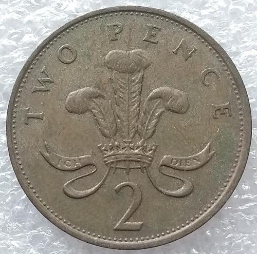 moneda reino unido 2 nuevos peniques two new pences 1989