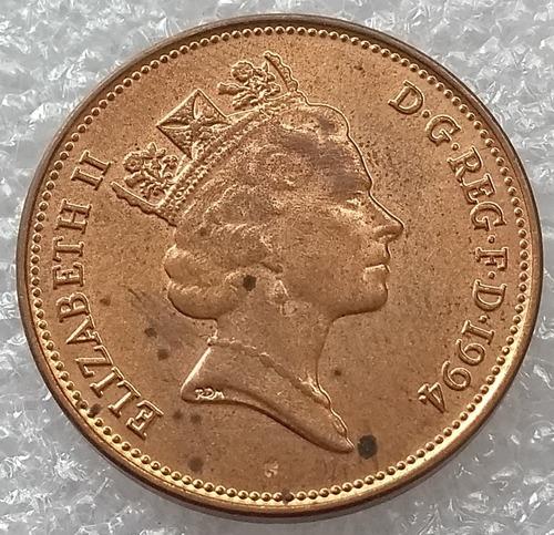 moneda reino unido 2 nuevos peniques two pences 1994