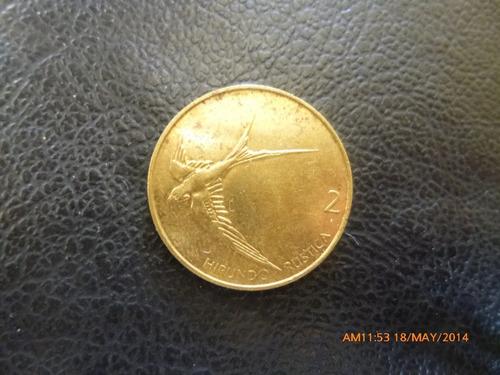 moneda rep de eslovenia 2 tolarja 2001 (248z