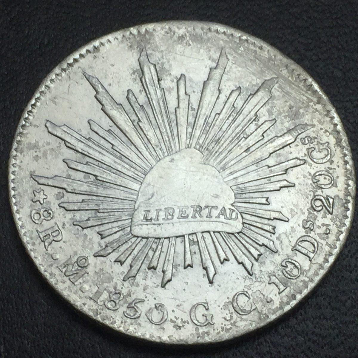 7688de54f731 moneda republica 8 reales méxico 1850 gc plata bonito. Cargando zoom.