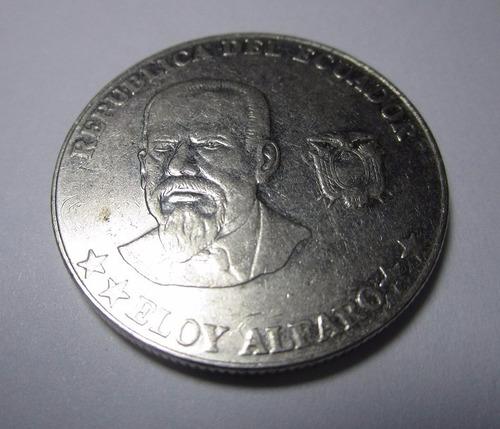 moneda republica del ecuador eloy alfaro 50 centavos 2000