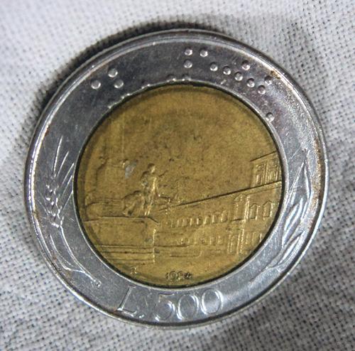 moneda republica italiana 500 liras año 1984