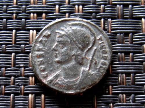 moneda romana angel con escudo alto grado de conservacion