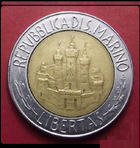 moneda san marino 500 liras 1984 einstein unc