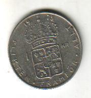 moneda suecia, 1 kr, 1973