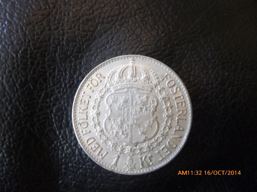 moneda suecia 1   krona 1940 gustaf v plata 0.800 (1024z