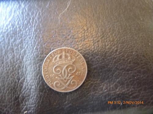 moneda suecia 1 ore 1947 (250z