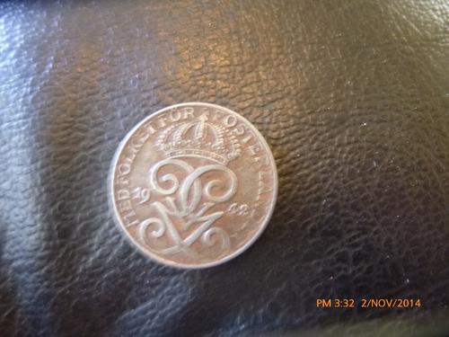 moneda suecia 2 ore 1942 (249z